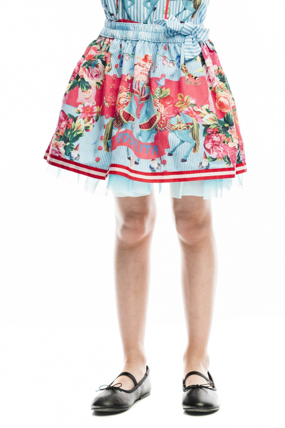 5dbc7d8764aa Mini flying skirt with tulle on the botton, and beautiful carrousel ...