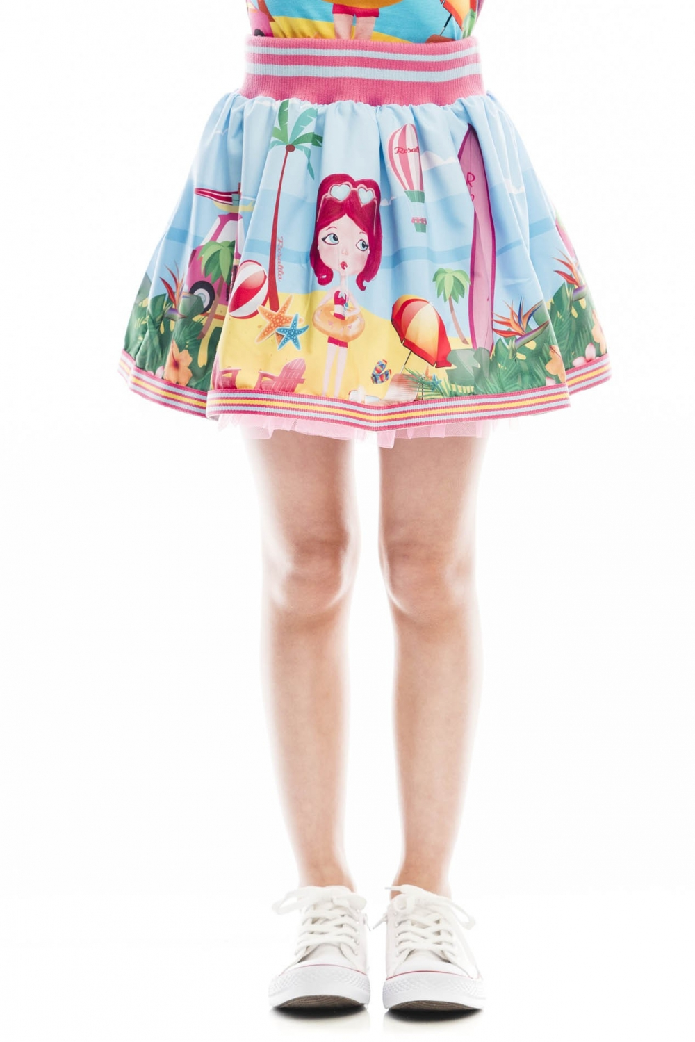 2a8ceb3479ac Mini flying skirt, with tulle on the bottom, with cheerful doll ...